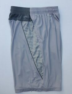 NIKE Men's Dri-Fit Athletic Shorts Size S Gray Workout Gym Basketball Training