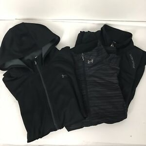 Womens Under Armour Lot of 3 Long Sleeve Running Shirt Hoodie Size L