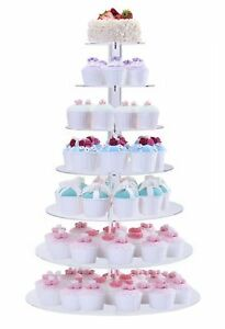 BonNoces Acrylic 7-Tier Round Stacked Party Cupcake Stand -Tiered cake Stand