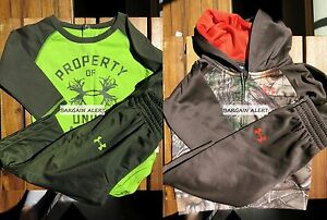 UNDER ARMOUR BOYS 6 - 9 MONTHS ~ HUNTER CAMOUFLAGE ~ HOODIE SWEAT JACKET ~ $100