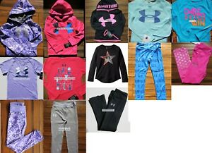 HUGE LOT GIRLS SIZE 5 UNDER ARMOUR ~ 13pc ~ HOODIE SWEATSHIRT ~ LEGGINGS $372