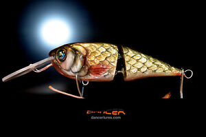 Dancer DISCO VOLANTE  Handmade hand carved jointed deep running fishing lure