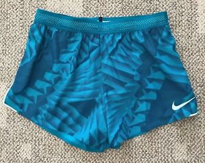 Nike Aeroswift Running Athletic Shorts Teal Green Mens Size Medium 904533-467