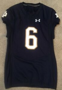 2016 TEAM ISSUED NOTRE DAME FOOTBALL UNDER ARMOUR JERSEY EQUANIMEOUS ST. BROWN
