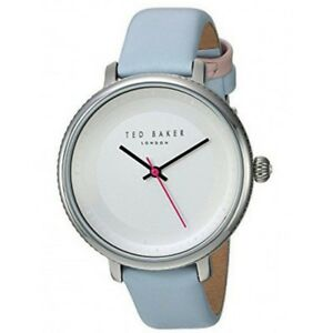 Ted Baker 10031528 Women's Blue Leather Bracelet With Silver Analog Dial Watch
