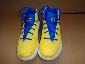 Under Armour Boys PS Curry  Basketball Shoes Size 1Y 1 Y Blue  Yellow