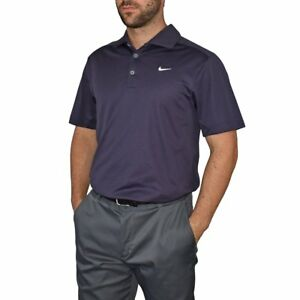 New Nike Golf Dry Fit Tech Golf Shirt - Mulberry