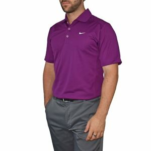 New Nike Golf Dry Fit Tech Golf Shirt - Bright Grape