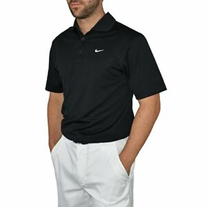 New Nike Golf Dry Fit Tech Golf Shirt - Black