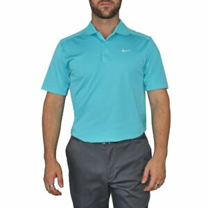 New Nike Golf Dry Fit Tech Golf Shirt - Gamma Blue