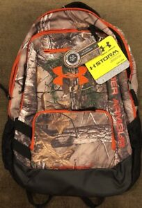 Under Armour BackPack Camo UA Hustle Realtree Camping The Rock Hunting Gym Bag