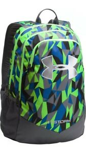 Under Armour UA Storm Scrimmage Backpack Lime Twist Green Graphite School Bag