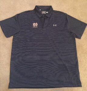 *MAKE OFFERS* USED TEAM ISSUED LOOSE UNDER ARMOUR NOTRE DAME FOOTBALL POLO