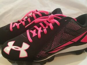 Under Armour Basketball Shoes Girls cleats.size5