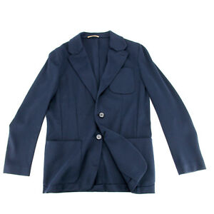 BERLUTI Shirt Jacket EU50 (US40) Navy Blue Cotton Sport Coat  RP $2750