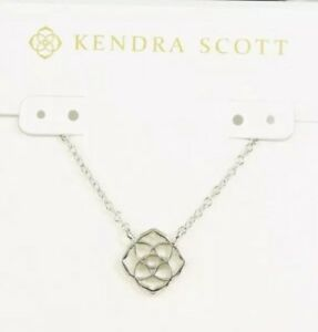 KENDRA SCOTT Decklyn Silver Tone Pendant Necklace-RV $50-NEW ON CARD!