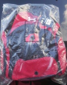 NIP Under Armour Mens Trainer Backpack Red Black Bag & Gear Pouch 73043 MSRP $50