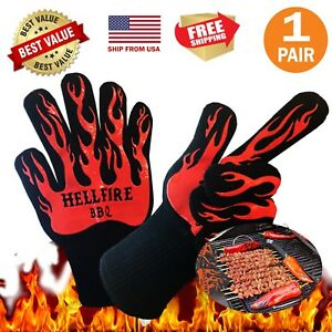 BBQ Oven Gloves Best Protective High Quality Work Glove,Bake cooking-1pair