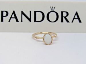New wHinge Box Pandora Soft Sweetness Opal 14KT Gold Ring 150169WOP 585 RETIRED