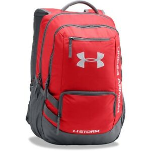 [1263964-600] New Men's UA Under Armour Storm Hustle II Backpack - Red Graphite
