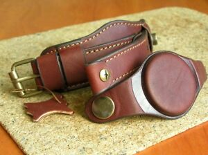 20mm MILITARY WATCH STRAP GENUINE LEATHER BAND BORDO CUFF BRACELET PROTECTIVE