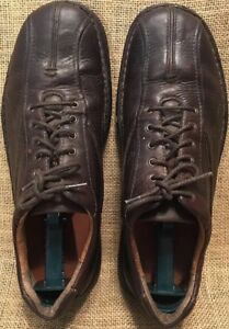 Mens CLARKS Oxfords Leather Bicycle Toe Lace Up Mens Size 11 M $23.99