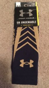 NEW 2014 NOTRE DAME FOOTBALL UNDER ARMOUR SHAMROCK SERIES SOCKS XL