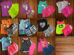 GIRLS 24 Months ~ DKNY ~ PUMA ~ UNDER ARMOUR ~ NIKE ~ SHORTS  TOPS $318~ 22pc