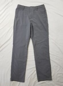 Under Armour Golf Youth Boys Gray Loose Fit Athletic Golf Pants Size Large YLG