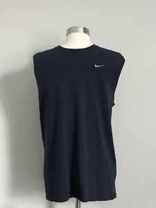 Mens Nike Fit Dry Sports Tank Top Blue Shirt Size Small