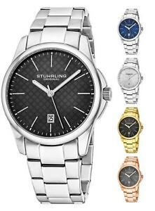 Stuhrling Symphony Steel Case & Bracelet  42mm Japanese Quartz Men's Watch 3970