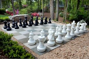 Giant Plastic Chess Set with a 25quot; King Outdoor Chess Set