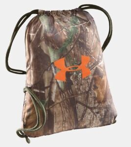Under Armour Realtree Xtra Green Camo Sackpack wClip Hunting Gym Backpack
