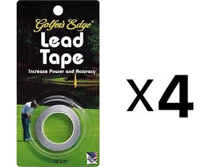 Unique Golf Lead Weight Tape For Putter & Club Golfer Accessory (4-Pack)