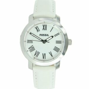 FOSSIL Ladies Watch BQ1232 Leather Bracelet white top Watch EDEL mother of pearl