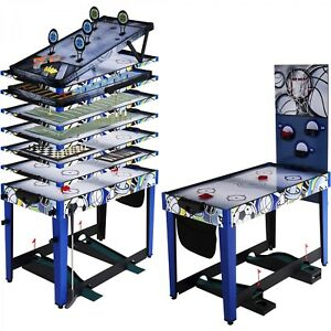 MD Sports 48 Inch 13-In-1 Combo Multi Game Table Air Hockey Darts Basketball