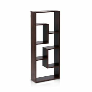 Wall Mounted Bookshelf Display Shelves Storage Organizer Rack Cabinet Home Decor