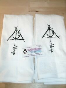 Harry Potter Always Personalized Dish Kitchen Hand Towels ANY COLOR
