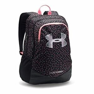 NEW Under Armour Storm Scrimmage Backpack Black Hot Pink Dots Youth Boys Girls