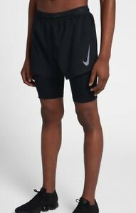 Nike Men's Aeroswift 2-In-1 Running Shorts 892901-010 SZ L   New!!