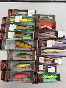 Large Assorted lot Lot Of 16 Rapala Fishing Lures New-Sealed