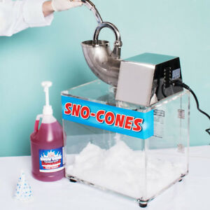 NIB Commercial Snow Cone Ice Shaver Machine Professional 500lbh 14 HP Free S