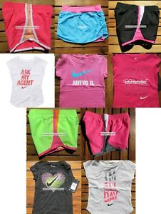 NIKE GIRLS 2T ~ 3T ~ 4T * 10pc ~ NIKE TEMPO RUNNING SHORTS ~T-SHIRTS Summer $224