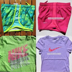 GIRLS NIKE ~ SIZE SMALL ~ NIKE TEMPO RUNNING SHORTS ~ T-SHIRTS ~ 4pc ~NEW