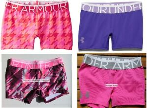 UNDER ARMOUR GIRLS LARGE FITTED SHORTS ~ GYMNASTICS DANCE x 4 PAIRS ~