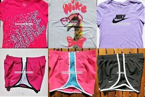 GIRLS NIKE ~ SIZE LARGE ~ NIKE TEMPO RUNNING SHORTS ~ T-SHIRTS ~ 6pc ~ BNWT