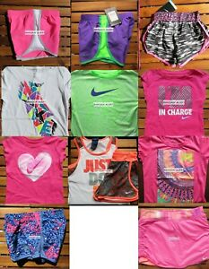 NIKE GIRLS SIZE 6X ~ TEMPO RUNNING SHORTS ~ T-SHIRTS ~ 12PC ~ NWT ~ $274 ~ SKORT