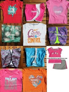 GIRLS 6X SUMMER CLOTHING ~ TEMPO RUNNING SHORTS ~ T-SHIRTS ~ NEW $261