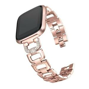 bayite For Fitbit Versa Strap with Rhinestones Replacement Adjustable Bling...