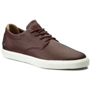 Lacoste Men's Espere 117 1 CAM Trainers Sneakers Burgundy  shoes casual  a3